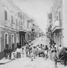 Fortaleza Street Old San Juan Puerto Rico in 1889