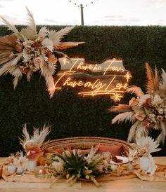 Bride Kai, designed this sign herself with a nod to her and groom, Greg's favorite Stevie Nicks lyric. Wedding Pins, Boho Wedding, Wedding Reception, Dream Wedding, Wedding Ideas, Wedding Signage, Wedding Humor, Wedding Blog, Fringe Wedding Dress