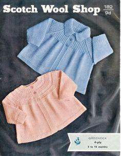 4ply Matine Ceketler 3-15months - 182 BEBEK Scotch Yün Shop Vintage pdf - SATIŞA