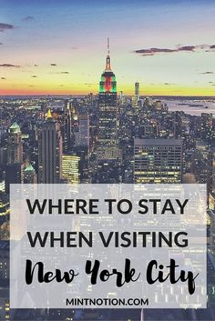"One of the most common questions tourists ask when planning a trip to New York City is: ""What is the best neighbourhood to stay in?"" As the most populous city in the United States it can be a little overwhelming deciding which neighborhood is best for you. Click here to check out this handy neighborhood guide of NYC."