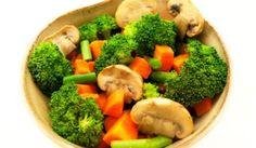 Dusená brokolica so šampiňónmi Vegan V, Tofu, Broccoli, Vegetables, Vegetable Recipes, Veggies
