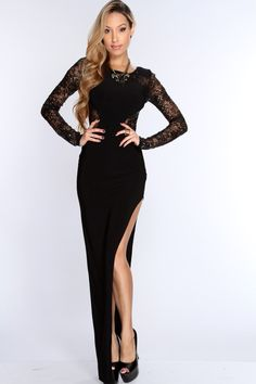 If you havent done your research on this years hottest trends, let us catch you up with this stylish sexy cocktail dress. You will have everyone stunned when they see you entering the room in this eye catching dress. This dress features a sequin mesh accent, scoop neckline, long sleeves, lace mesh back detail, slit side, and finished with an elegant fit. 95% Polyester 5% Spandex. Made in U.S.A