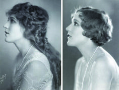 'Sick of Cinderella' – Mary Pickford before and after she bobbed her hair (Courtesy Birds Eye View, via Silent London). History of hair 50s Hairstyles, Vintage Hairstyles, Braided Hairstyles, Hairdos, Rockabilly Makeup, 50s Makeup, Crazy Makeup, Makeup Geek, Makeup Art