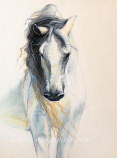 ESPIRITU & FUERZA (Spirit and Strength) Artist, Kirsten Anderson Clouse print of the artist original oil on canvas