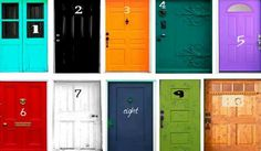 PICK A DOOR PERSONALITY TEST  I was stuck deciding between door 1, and door 8-both of which seem fitting to myself.  The choices you make in life say a lot about your personality. The World Class Seminars blog released a test that asks you to choose a door most appealing to you. This might reveal a few things about yourself. For details on your Door inbox me @ www.facebook.com/critiquez22758.