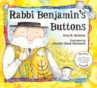 Rabbi Benjamin's congregation give him a special vest with four shiny silver buttons. But all the holiday foods make Rabbi's vest grow tighter until the buttons pop off!