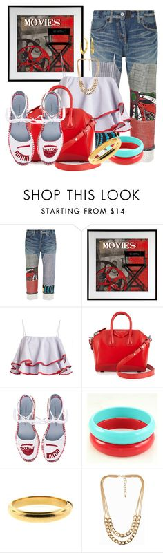 """MOVIE NITE by DaNewMeh"" by thchosn ❤ liked on Polyvore featuring Junya Watanabe, Art for Life, Givenchy, Chiara Ferragni, NLY Accessories and Lauren Ralph Lauren"