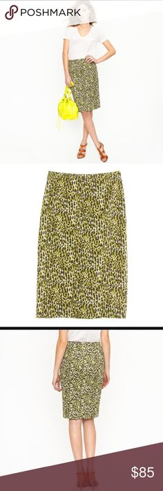 "‼️SALE‼️J. Crew Pencil Skirt in leopard print J. Crew Pencil Skirt in leopard print.  Flattering skirt for this season.  32"" waist and 25.5"" length. J. Crew Skirts Pencil"