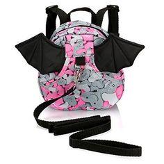 Safe Baby Harness Toddler Kids Safety Child Bat Pink Walk Back Pack Strap Rein Baby Harness, Kids Safety, Baby Safe, Kids Girls, Baby Car Seats, Walking, Backpacks, Children, Pink