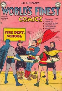 Superman Dicks Over the Fire Department.