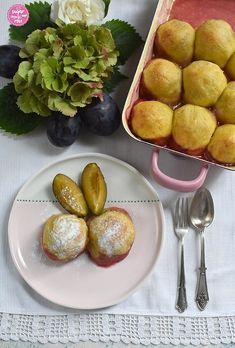 Gebackene Zwetschkenknödel in der Rein' - sugar&rose Pretzel Bites, Regional, Bread, Ethnic Recipes, Food, Wood Burner, Fruit, Apple, Food Food