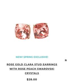 Rose Gold Clara Stud Earrings (limited edition.)
