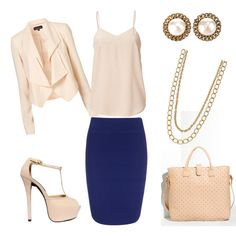 Working Woman Ivory & Blue- Perfect outfit!