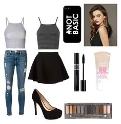 """""""Believer"""" by nanaleany ❤ liked on Polyvore featuring Glamorous, Frame Denim, Topshop, Neil Barrett, Kerr®, Jessica Simpson, Maybelline and Urban Decay"""
