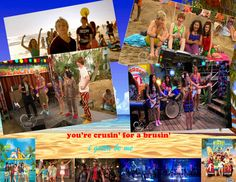 I used a lot of pictures from Austin and Ally, Teen Beach Movie, and Teen Beach Two because they had a lot of summer pictures! I turned down the brightness on the background and typed in lyrics from Teen Beach Movie and Teen Beach Two songs!