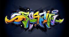 Buy Bright Graffiti Lettering by Vecster on GraphicRiver. Bright graffiti lettering on dark background. Alphabet Graffiti, Graffiti Murals, Graffiti Drawing, Graffiti Lettering, Street Art Graffiti, Wall Murals, Graffiti Designs, Images Graffiti, Creative Illustration