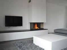 Fireplace and TV concept Interior, Fireplace Design, Living Room Style, Living Room Wall Units, House Interior, Indoor Fireplace, Modern Fireplace, Interior Design, Home And Living