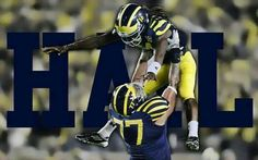 university of Michigan football Michigan Athletics, Michigan Wolverines Football, Packers Football, University Of Michigan, Detroit Lions Football, College Football Teams, Football Presents, Michigan Go Blue, Sports Wallpapers