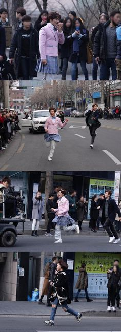 "Ji Sung Runs Around Hongdae Dressed as a Schoolgirl for ""Kill Me, Heal Me"""
