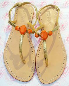 Mystique Sandals   Delicate Orange Strap