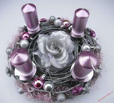 Adventní svícen * fialovo stříbrný ♥ Perfume Bottles, Beauty, Perfume Bottle, Beauty Illustration