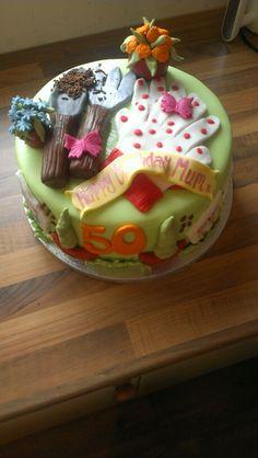 Gardening themed cake