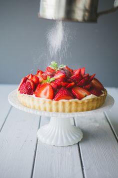Danish Strawberry Tart – Jordbærtærte | Camera & Clementine