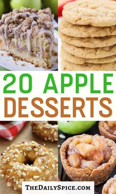 Apple Dessert Recipes, Homemade Desserts, Sweets Recipes, Fruit Recipes, Apple Recipes, Fall Recipes, Delicious Desserts, Cooking Recipes, Yummy Food