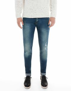 Bershka Romania - Stonewashed skinny jeans