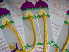 Tangled invitations- Easy to make my self.
