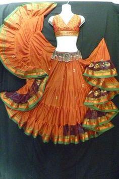 Indian Designer Outfits, Designer Dresses, Saree Dress, Dress Skirt, Flamenco Skirt, Teal Skirt, Gypsy Costume, Choli Designs, Belly Dance Costumes