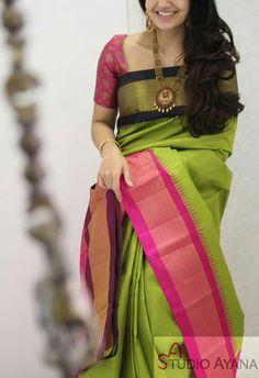 Indian Bridal Sarees, Indian Silk Sarees, Indian Beauty Saree, Bridal Silk Saree, Organza Saree, Soft Silk Sarees, Kerala Saree Blouse Designs, Saree Blouse Neck Designs, Fancy Blouse Designs
