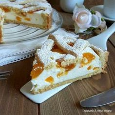 Apricot and Ricotta Cream Tart - Recipes in Armon .- Recipes in Harmony – Page 11 of 85 – easy recipes for everyone - Easy Desert Recipes, Easy Recipes For Beginners, Easy Bread Recipes, Tart Recipes, Quick Recipes, Quick Easy Meals, Easter Dinner, Cake Pans, Mini Cakes