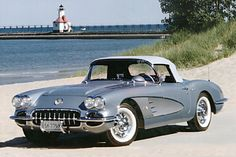 1958 Corvette I had one of these. Same color combination. Mine had a hard top.