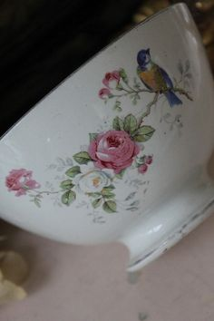 I love the little bluebird on this piece of china!