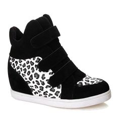 $17.20 Casual Women's Ankle Boots With Leopard Print and Increased Internal Design