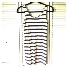 Stripe bodycon dress H&M bodycon black and cream stripe dress. Size 6. Open to offers :) H&M Dresses Mini