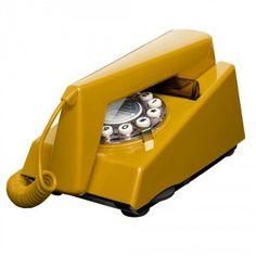 Mustard yellow retro look trim phone