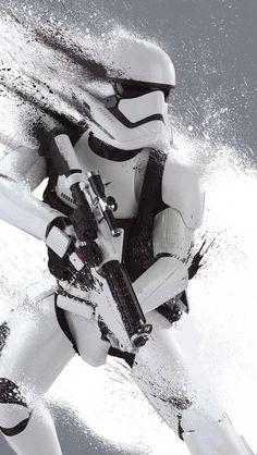 Framed Star Wars: Episode VII - The Force Awakens - Movie/Print (Stormtrooper) Poster in Matte Black Finish Wood Frame Star Wars Film, Nave Star Wars, Star Wars 7, Star Wars Poster, Star Wars Love, Boba Fett, Stormtroopers, Amour Star Wars, Image Youtube