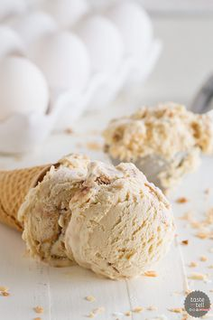 Salted Caramel Ice Cream with Fudge and Toasted Coconut - Taste and Tell