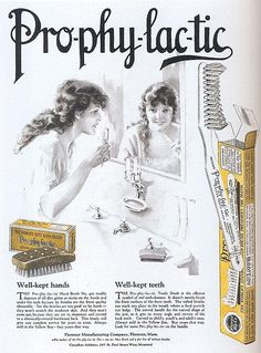 Pro-phy-lac-tic Brushes ad, 1920 by Gatochy, via Flickr