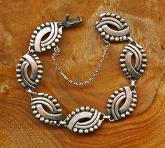 Bracelet |  Hector Aguilar. (Mexico)  Silver. c. 1950s