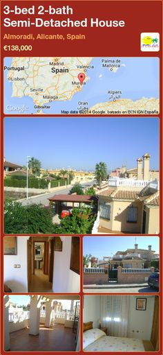 Semi-Detached House for Sale in Almoradi, Alicante, Spain Semi Detached, Detached House, Alicante Spain, Murcia, Seville, New Builds, Malaga, Valencia, Property For Sale