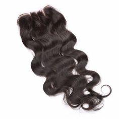 6A 4x4 Inch Fashion Body Wave Bleached Knot Natural Black Brazilian Virgin Hair Top Closure For Women #CLICK! #clothing, #shoes, #jewelry, #women, #men