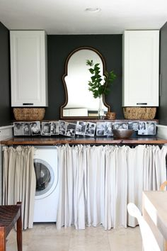 Basement Laundry Room ideas for Small Space (Makeovers) 2018 Small laundry room ideas Laundry room decor Laundry room storage Laundry room shelves Small laundry room makeover Laundry closet ideas And Dryer Store Toilet Saving Hidden Laundry, Laundry Nook, Laundry Room Remodel, Laundry Room Cabinets, Small Laundry Rooms, Laundry Room Organization, Laundry Room Design, Laundry Closet, Basement Laundry