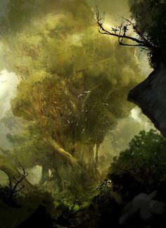 Giant Tree fantasy artwork