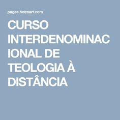 CURSO INTERDENOMINACIONAL DE TEOLOGIA À DISTÂNCIA