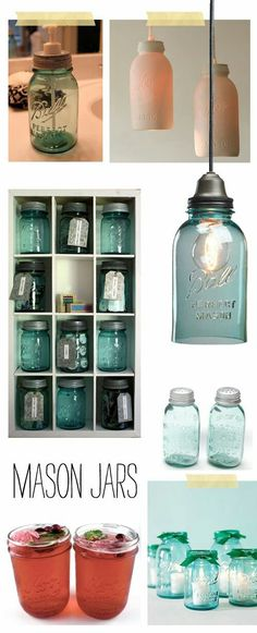Things to do with Mason Jars ♥. I love the Mason Jar Light Mason Jar Projects, Mason Jar Crafts, Mason Jar Diy, Luminaria Diy, Creation Deco, Ball Jars, Bottles And Jars, Glass Jars, Canning Jars