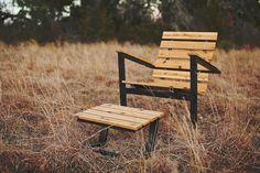 East Polk Lounger handcrafted rustic modern by petrifieddesign
