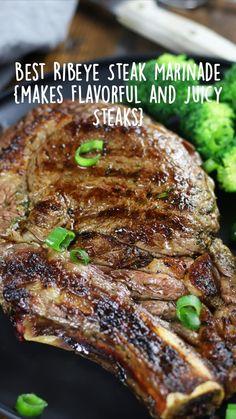 Best Ribeye Steak Marinade, Steaks, Rib Marinade, Meat Recipes, Real Food Recipes, Dinner Recipes, Healthy Comfort Food, Comfort Foods, Pork And Beef Recipe